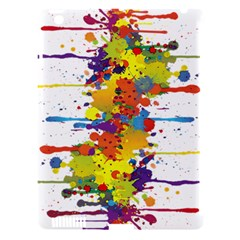 Crazy Multicolored Double Running Splashes Apple iPad 3/4 Hardshell Case (Compatible with Smart Cover)