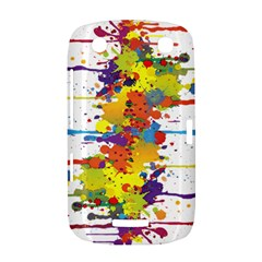 Crazy Multicolored Double Running Splashes BlackBerry Curve 9380