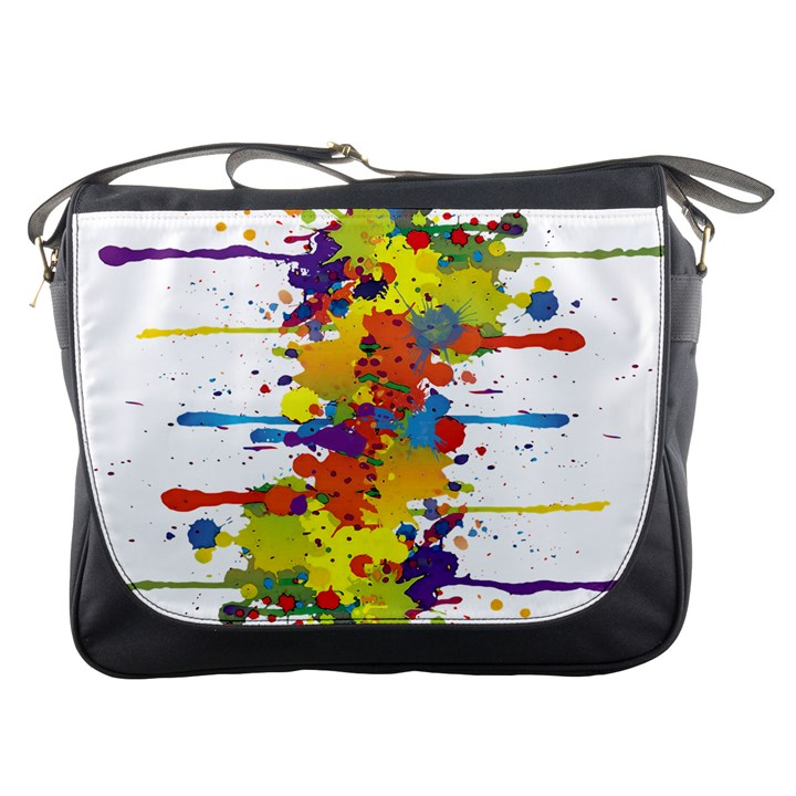 Crazy Multicolored Double Running Splashes Messenger Bags