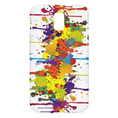 Crazy Multicolored Double Running Splashes Samsung Galaxy S II Skyrocket Hardshell Case