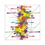 Crazy Multicolored Double Running Splashes Acrylic Tangram Puzzle (6  x 6 ) Front
