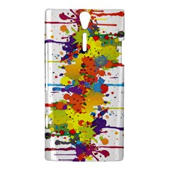 Crazy Multicolored Double Running Splashes Sony Xperia S