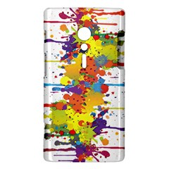 Crazy Multicolored Double Running Splashes Sony Xperia ion