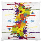 Crazy Multicolored Double Running Splashes Large Cushion Case (Two Sides) Back