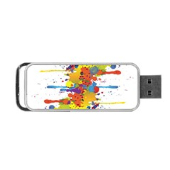 Crazy Multicolored Double Running Splashes Portable Usb Flash (one Side)