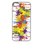 Crazy Multicolored Double Running Splashes Apple iPhone 5 Case (Silver) Front