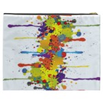 Crazy Multicolored Double Running Splashes Cosmetic Bag (XXXL)  Back