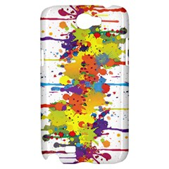Crazy Multicolored Double Running Splashes Samsung Galaxy Note 2 Hardshell Case