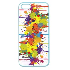 Crazy Multicolored Double Running Splashes Apple Seamless iPhone 5 Case (Color)