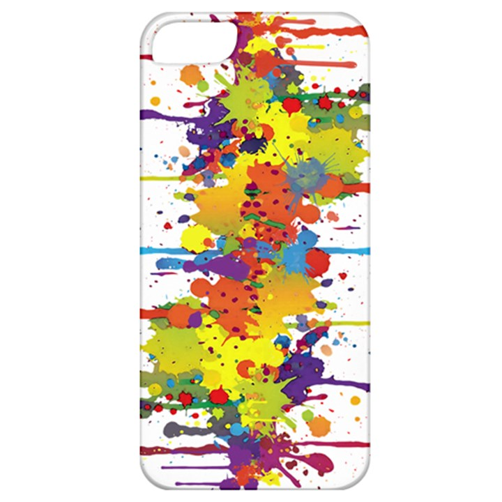 Crazy Multicolored Double Running Splashes Apple iPhone 5 Classic Hardshell Case