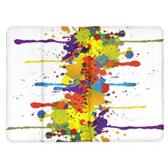 Crazy Multicolored Double Running Splashes Kindle Fire (1st Gen) Flip Case