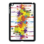 Crazy Multicolored Double Running Splashes Apple iPad Mini Case (Black) Front