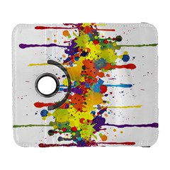 Crazy Multicolored Double Running Splashes Samsung Galaxy S  III Flip 360 Case