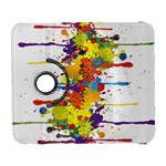 Crazy Multicolored Double Running Splashes Samsung Galaxy S  III Flip 360 Case Front