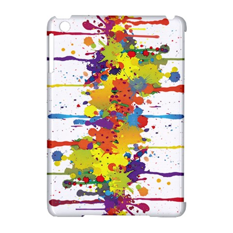 Crazy Multicolored Double Running Splashes Apple iPad Mini Hardshell Case (Compatible with Smart Cover)