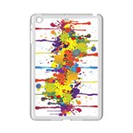 Crazy Multicolored Double Running Splashes iPad Mini 2 Enamel Coated Cases Front