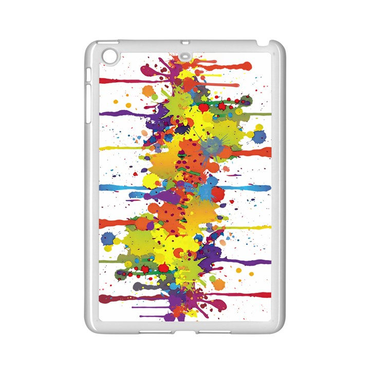 Crazy Multicolored Double Running Splashes iPad Mini 2 Enamel Coated Cases