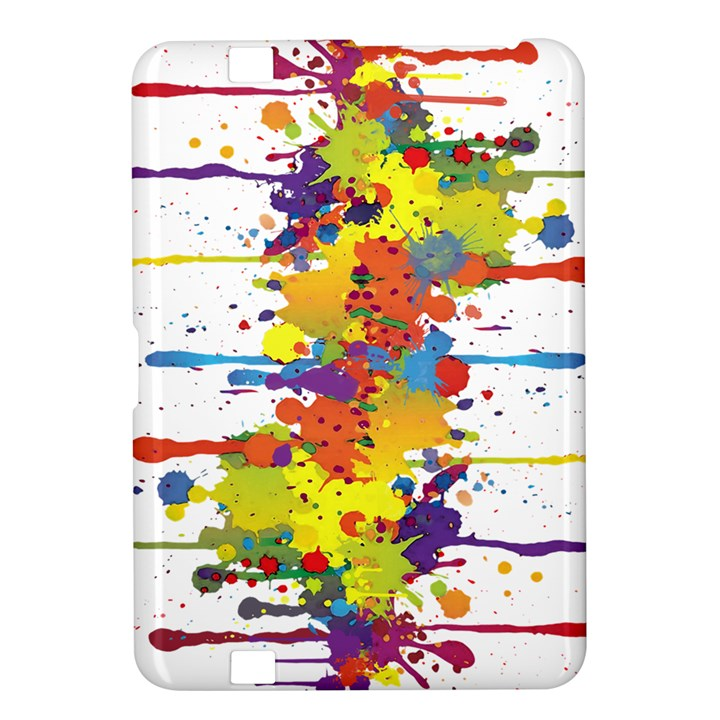 Crazy Multicolored Double Running Splashes Kindle Fire HD 8.9
