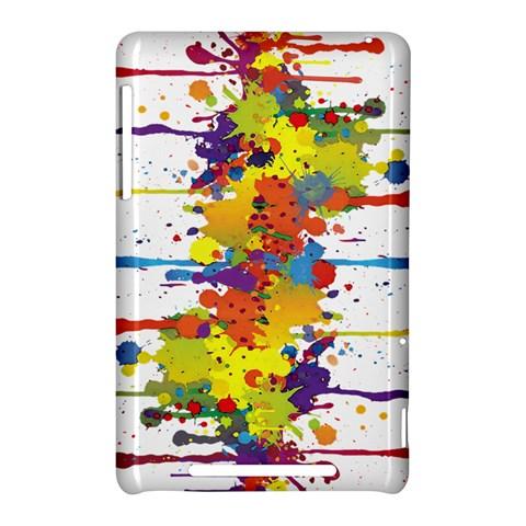 Crazy Multicolored Double Running Splashes Nexus 7 (2012)