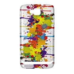 Crazy Multicolored Double Running Splashes Samsung Ativ S i8750 Hardshell Case