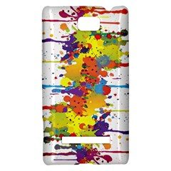 Crazy Multicolored Double Running Splashes HTC 8S Hardshell Case
