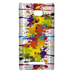 Crazy Multicolored Double Running Splashes HTC 8X
