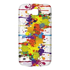 Crazy Multicolored Double Running Splashes Samsung Galaxy Premier I9260 Hardshell Case