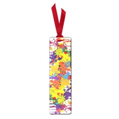 Crazy Multicolored Double Running Splashes Small Book Marks