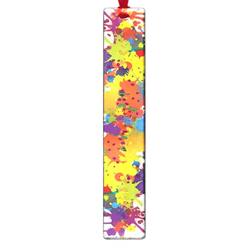 Crazy Multicolored Double Running Splashes Large Book Marks