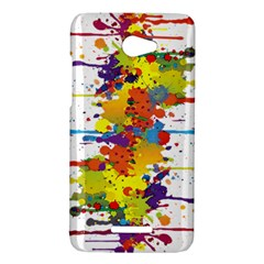 Crazy Multicolored Double Running Splashes HTC Butterfly X920E Hardshell Case