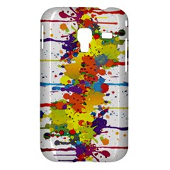 Crazy Multicolored Double Running Splashes Samsung Galaxy Ace Plus S7500 Hardshell Case
