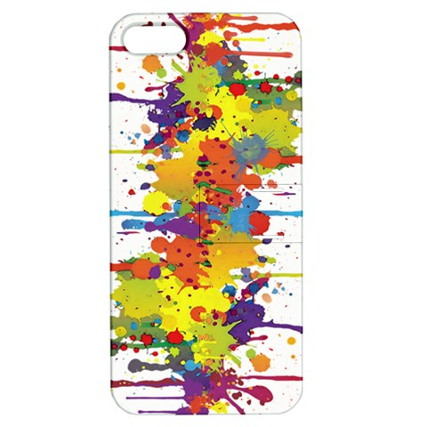 Crazy Multicolored Double Running Splashes Apple iPhone 5 Hardshell Case with Stand