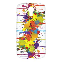 Crazy Multicolored Double Running Splashes Samsung Galaxy S4 I9500/i9505 Hardshell Case