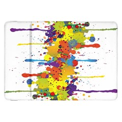 Crazy Multicolored Double Running Splashes Samsung Galaxy Tab 8.9  P7300 Flip Case