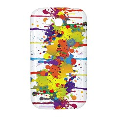 Crazy Multicolored Double Running Splashes Samsung Galaxy Grand DUOS I9082 Hardshell Case