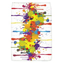 Crazy Multicolored Double Running Splashes Flap Covers (l)