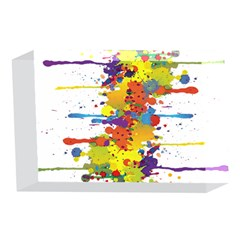 Crazy Multicolored Double Running Splashes 4 x 6  Acrylic Photo Blocks