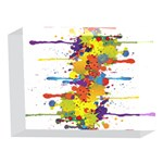 Crazy Multicolored Double Running Splashes 5 x 7  Acrylic Photo Blocks Front