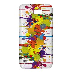 Crazy Multicolored Double Running Splashes Motorola XT788