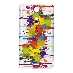 Crazy Multicolored Double Running Splashes Sony Xperia TX