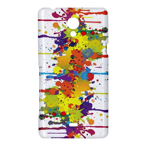 Crazy Multicolored Double Running Splashes Sony Xperia T