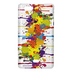 Crazy Multicolored Double Running Splashes Sony Xperia Miro