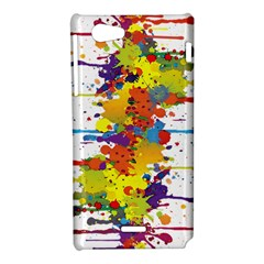 Crazy Multicolored Double Running Splashes Sony Xperia J