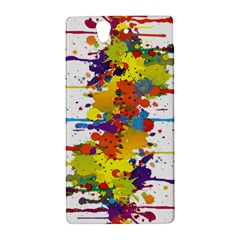 Crazy Multicolored Double Running Splashes Sony Xperia Z