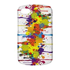 Crazy Multicolored Double Running Splashes BlackBerry Q10
