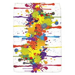 Crazy Multicolored Double Running Splashes Flap Covers (s)