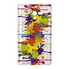 Crazy Multicolored Double Running Splashes Sony Xperia ZL (L35H)