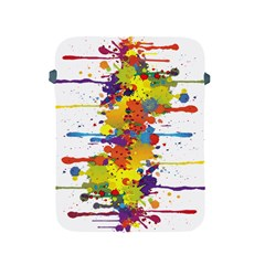Crazy Multicolored Double Running Splashes Apple iPad 2/3/4 Protective Soft Cases