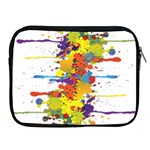 Crazy Multicolored Double Running Splashes Apple iPad 2/3/4 Zipper Cases Front