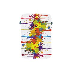 Crazy Multicolored Double Running Splashes Apple iPad Mini Protective Soft Cases